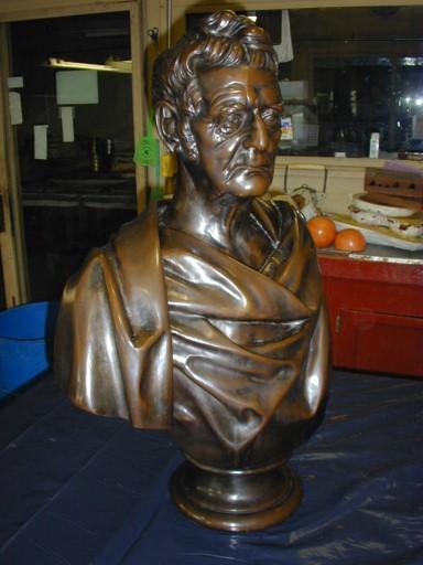 Bust of John Deere, after Leonard Volk's 1870 for John Deere Inc.