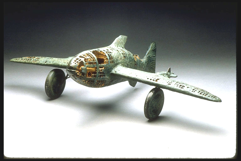 Buzz Fish, cast iron, sand cast with carved core, Maxon 1987