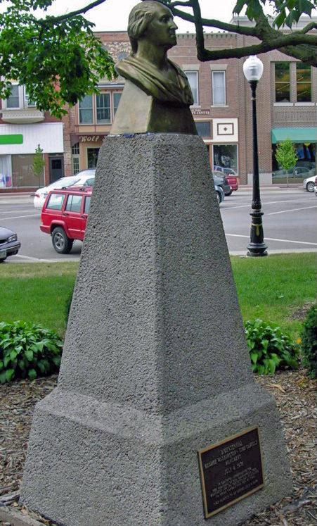 Bronze Bust of George Washington, Washington, Iowa