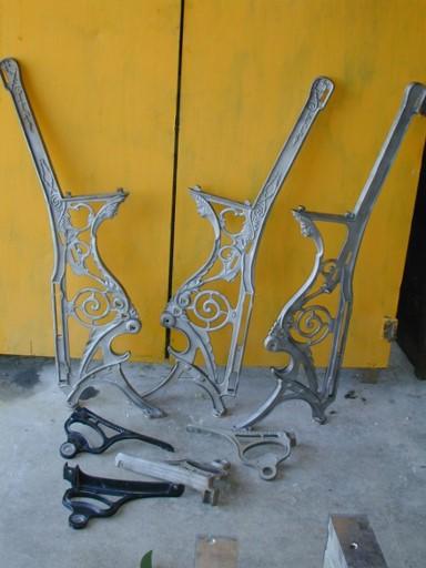 Cast iron opera seats, Neumann Bros. Des Moines, Iowa