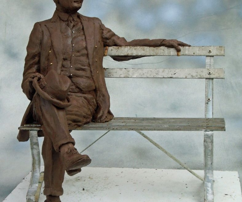 Commission Finished Maquette of Herbert Hoover, Stephen Maxon, 2016