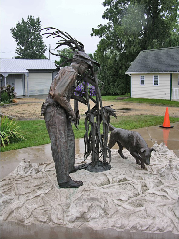 Commission, One of Two Identical Streetscape sculptures, DeWitt, Iowa, 2010