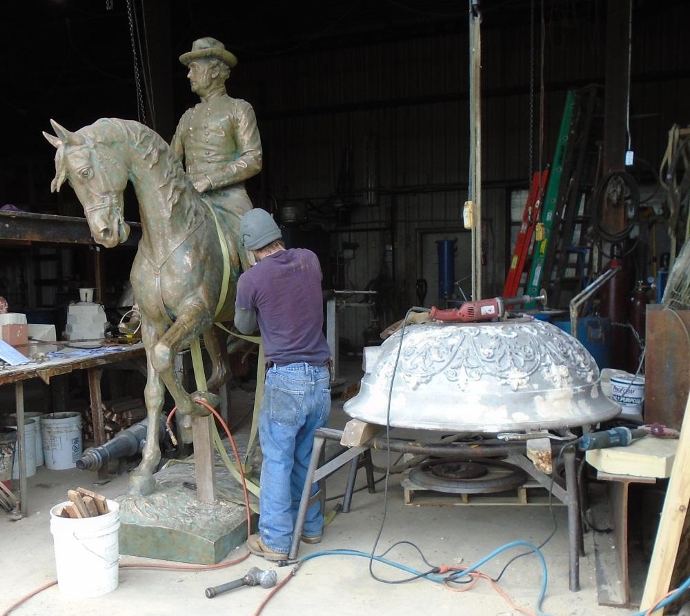 General Samuel Crutis restoration, Glen Ellyn Fountain restoration recast bronze