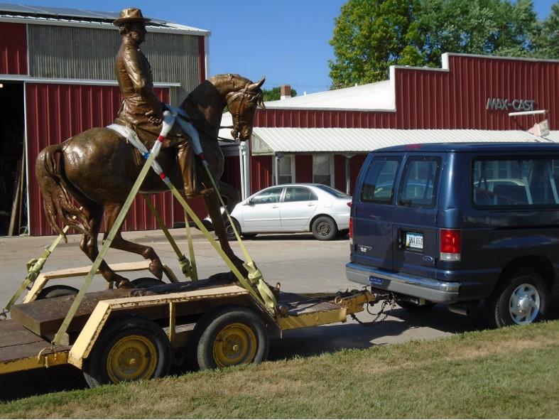 Restored General Samuel Curtis, equestrian monument headed toKeokuk, Iowa, Mac-Cast, 2019